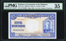 Bahamas Bahamas Government 5 Pounds 1936 (ND 1944) Pick 12a PMG Choice Very Fine 35.   HID09801242017
