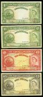 Bahamas Bahamas Government 4 Shillings (2); 10 Shillings; 1 Pound 1936 (ND 1953-54) Pick 13b (2); 14b; 15b Four Examples Fine. Annotations present on ...