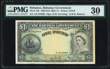 Bahamas Bahamas Government 1 Pound 1936 (ND 1963) Pick 15d PMG Very Fine 30.   HID09801242017