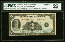 Canada Bank of Canada $2 1935 BC-3 PMG Very Fine 25.   HID09801242017