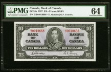 Canada Bank of Canada $10 2.1.1937 BC-24b PMG Choice Uncirculated 64.   HID09801242017