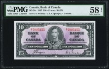 Canada Bank of Canada $10 2.1.1937 BC-24c PMG Choice About Unc 58 EPQ.   HID09801242017