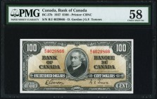 Canada Bank of Canada $100 2.1.1937 BC-27b PMG Choice About Unc 58.   HID09801242017