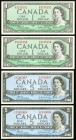 Canada Bank of Canada Group Lot of 1954 $1 and $5 Consecutive Pairs Crisp Uncirculated.   HID09801242017