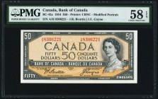 Canada Bank of Canada $50 1954 BC-42a PMG Choice About Unc 58 EPQ.   HID09801242017