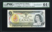 Canada Bank of Canada $1 1973 BC-46a PMG Choice Uncirculated 64 EPQ.   HID09801242017