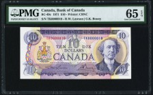 Canada Bank of Canada $10 1971 BC-49c PMG Gem Uncirculated 65 EPQ.   HID09801242017