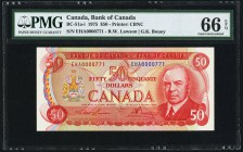 Canada Bank of Canada $50 1975 BC-51a-i PMG Gem Uncirculated 66 EPQ.   HID09801242017