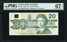 Canada Bank of Canada $20 1991 BC-58b PMG Superb Gem Unc 67 EPQ.   HID09801242017