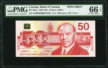 Canada Bank of Canada $50 1988 BC-59aS Specimen PMG Gem Uncirculated 66 EPQ.   HID09801242017