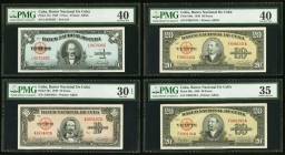Cuba Group Lot of 8 PMG Graded Examples Very Fine 30 to Extremely Fine 45. The 500 Pesos has comments of minor scratches.   HID09801242017