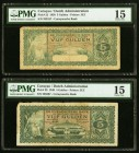 Curacao De Curacaosche Bank 5 Gulden 1939; 1948 Pick 22; 29 Two Examples PMG Choice Fine 15 (2).   HID09801242017