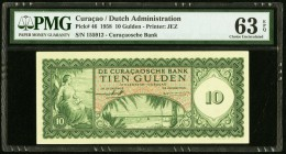 Curacao De Curacaosche Bank 10 Gulden 1958 Pick 46 PMG Choice Uncirculated 63 EPQ.   HID09801242017