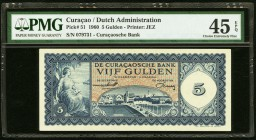 Curacao De Curacaosche Bank 5 Gulden 1960 Pick 51 PMG Choice Extremely Fine 45 EPQ.   HID09801242017