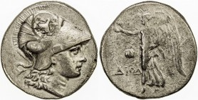 PAMPHYLIA: Anonymous, ca. 205-100 BC, AR tetradrachm (15.66g), Side, helmeted head of Athena right // Nike flying left, holding wreath; to left, pomeg...