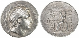 SELEUKID KINGDOM: Demetrios I Soter, 162-150 BC, AR tetradrachm (16.52g), Antioch ad Orontes, ND, S-7014, king's head right, within laurel border // T...