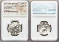 MACEDONIAN KINGDOM. Alexander III the Great (336-323 BC). AR tetradrachm (26mm, 17.10 gm, 12h). NGC Choice AU 5/5 - 4/5. Posthumous issue of Susa, und...