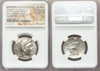 MACEDONIAN KINGDOM. Alexander III the Great (336-323 BC). AR tetradrachm (27mm, 16.96 gm, 12h). NGC Choice AU 5/5 - 3/5. Posthumous issue of Miletus, ...