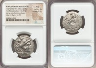 MACEDONIAN KINGDOM. Alexander III the Great (336-323 BC). AR tetradrachm (27mm, 16.81 gm, 6h). NGC AU 4/5 - 4/5. Lifetime or early posthumous issue of...