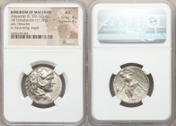 MACEDONIAN KINGDOM. Alexander III the Great (336-323 BC). AR tetradrachm (25mm, 17.22 gm, 10h). NGC AU 4/5 - 4/5. Late lifetime or early posthumous is...