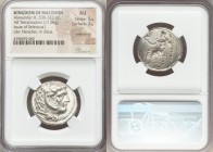 MACEDONIAN KINGDOM. Alexander III the Great (336-323 BC). AR tetradrachm (25mm, 17.06 gm, 6h). NGC AU 5/5 - 2/5, smoothing. Posthumous issue of Susa, ...