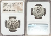 MACEDONIAN KINGDOM. Alexander III the Great (336-323 BC). AR tetradrachm (28mm, 16.91 gm, 6h). NGC Choice XF 5/5 - 3/5. Lifetime or early posthumous i...