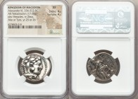 MACEDONIAN KINGDOM. Alexander III the Great (336-323 BC). AR tetradrachm (25mm, 17.06 gm, 10h). NGC XF 4/5 - 4/5. Late lifetime to early posthumous is...