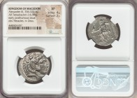 MACEDONIAN KINGDOM. Alexander III the Great (336-323 BC). AR tetradrachm (26mm, 16.99 gm, 5h). NGC XF 4/5 - 3/5. Late lifetime or early posthumous iss...