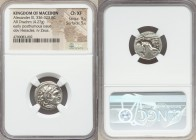 MACEDONIAN KINGDOM. Alexander III the Great (336-323 BC). AR drachm (17mm, 4.27 gm, 3h). NGC Choice XF 5/5 - 5/5. Posthumous issue of Lampsacus, ca. 3...