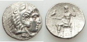 MACEDONIAN KINGDOM. Philip III Arrhidaeus (323-317 BC). AR tetradrachm (28mm, 16.58 gm, 5h). XF, porosity. Sidon, dated Year 13 (321/20 BC). Head of H...