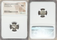 THRACE. Chersonesos. Ca. 400-350 BC. AR hemidrachm (13mm). NGC AU. Forepart of lion right, head reverted / Quadripartite incuse square with alternatin...
