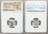 THRACIAN KINGDOM. Lysimachus (305-281 BC). AR drachm (19mm, 4.15 gm, 12h). NGC AU 4/5 - 1/5, brushed. Ephesus, ca. 294-287 BC. Diademed head of deifie...