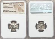 THRACIAN KINGDOM. Lysimachus (305-281 BC). AR drachm (17mm, 1h). NGC Choice XF. 'Colophon', ca. 301-297 BC. Head of Heracles right, wearing lion skin ...