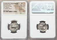 ACARNANIA. Anactorium. Ca. 350-300 BC. AR stater (21mm, 8.55 gm, 10h). NGC XF 4/5 - 3/5, scratches. Pegasus flying left, AN below / Head of Athena lef...