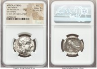ATTICA. Athens. Ca. 440-404 BC. AR tetradrachm (26mm, 17.19 gm, 9h). NGC AU 5/5 - 4/5. Mid-mass coinage issue. Head of Athena right, wearing crested A...