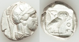 ATTICA. Athens. Ca. 440-404 BC. AR tetradrachm (27mm, 17.17 gm, 12h). XF. Mid-mass coinage issue. Head of Athena right, wearing crested Attic helmet o...