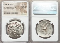 IONIA. Miletus. Ca. late 3rd-early 2nd centuries BC. AR tetradrachm (32mm, 17.01 gm, 1h). NGC Choice AU 5/5 - 3/5. Late posthumous issue in the name a...