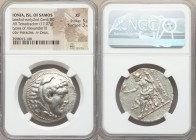 IONIAN ISLANDS. Samos. Late 3rd-early 2nd centuries BC. AR tetradrachm (33mm, 17.07 gm, 11h). NGC XF 5/5 - 3/5. Posthumous issue in the name and type ...