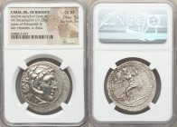 CARIAN ISLANDS. Rhodes. Ca. late 3rd-early 2nd centuries BC. AR tetradrachm (33mm, 17.23 gm, 11h). NGC Choice XF 5/5 - 3/5. Posthumous issue in the na...