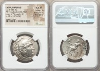 LYCIA. Phaselis. Ca. 218-185 BC. AR tetradrachm (33mm, 16.72 gm, 1h). NGC Choice XF 5/5 - 3/5, Fine Style. In the name and types of Alexander III the ...