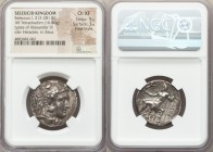 SELEUCID KINGDOM. Seleucus I Nicator (312-281 BC). AR tetradrachm (25mm, 16.80 gm, 1h). NGC Choice XF 5/5 - 3/5, Fine Style. Type of Alexander III of ...