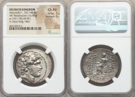 SELEUCID KINGDOM. Alexander I Balas (152-145 BC). AR tetradrachm (31mm, 16.43 gm, 12h). NGC Choice AU 5/5 - 3/5. Antioch on the Orontes, dated Seleuci...