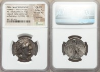 PTOLEMAIC EGYPT. Ptolemy I Soter (305/4-282 BC). AR stater or tetradrachm (27mm, 14.19 gm, 12h). NGC Choice XF 5/5 - 4/5, lt graffito. Alexandria, fro...