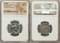 CYPRUS. Caracalla (AD 198-217). BI tetradrachm (24mm, 12h). NGC VF. Ca. AD 215-217. AYT KAI AN-TWNINOC CЄ, laureate head of Caracalla right / ΔHMAPX Є...