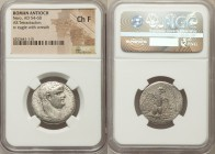 SYRIA. Antioch. Nero (AD 54-68). AR tetradrachm (25mm, 12h). NGC Choice Fine. Dated Regnal Year 9 and Year 111 of the Caesarean Era (AD 62/3). NERΩN K...