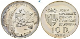Andorra.  AD 1989. FIFA World Cup Italy 1990. 10 Diners