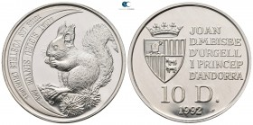Andorra.  AD 1992. Red Squirrel. 10 Diners
