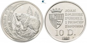 Andorra.  AD 1992. Brown Bear and cub. 10 Diners