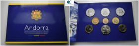 Andorra.  AD 2002. 9 coins. Mint Set