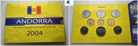 Andorra.  AD 2004. 9 coins . Mint Set